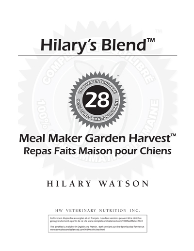 Meal Maker Recipe Booklet - French